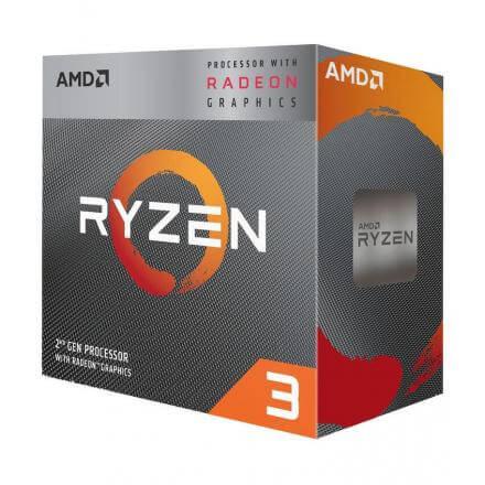 Cpu Amd Am4 Ryzen 3 3200g 4x3.5ghz/4mb Box (vga+vent) - Imagen 1