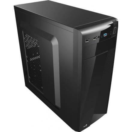 AEROCOOL CAJA CS1101 FULL BLACK, USB3.0 - Imagen 1