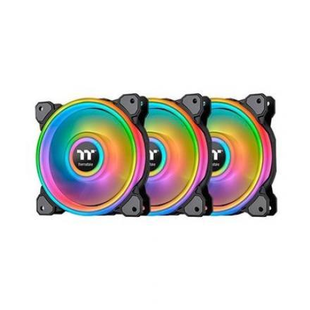 VENT 140X140 THERMALTAKE RING QUAD RGB PACK 3UDS RADIATOR F - Imagen 1