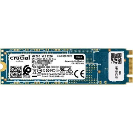 Ssd Crucialm.2 500gb Mx500 Sata 6gb/s Aes 256 Bits