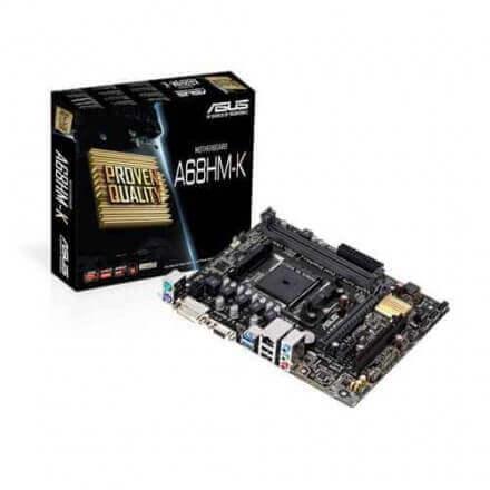 PB ASUS FM2 A68HM-K AMD/A68H/2DDR3/32GB/VGA+DVI/GBLAN/MATX - Imagen 1