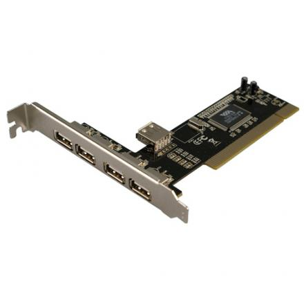 Logilink 4+1-port Usb 2.0 Pci Card, Pci, Usb 2.0, Rohs, Fcc, Ce, 480 Mbit/s, Via Vt6212l, Pc, Mac - Imagen 1