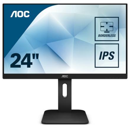 "Monitor Aoc 23.8"" 24p1 Ips 16:9,5ms,vga,dvi,hdmi,dp,sp,pivot - Imagen 1"