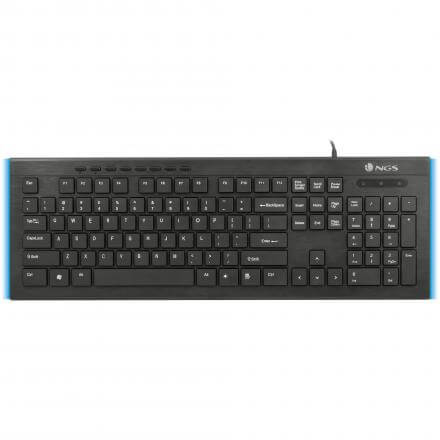 NGS TECLADO FIREFLY ULTRA FINO USB CON LUCES LED LATERALES - Imagen 1