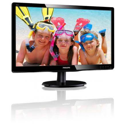 "PHILIPS MONITOR 19.5"" 200V4QSBR LED  MVA FHD,16:9,250CD/M2,8MS,VGA/DVI-D, - Imagen 1"