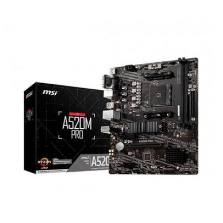 PLACA BASE MSI AM4 A520M PRO - Imagen 1