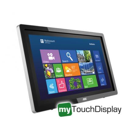"Monitor Aoc 21.5"" I2272pwhut/bk Ips Tactil Hdmi - Imagen 1"