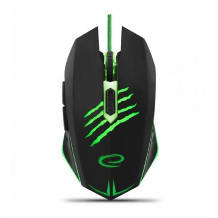 Raton Esperanza Egm209g Mx209 Claw - Cableado 6d Gaming Optical Mouse Usb - Verde - Imagen 1