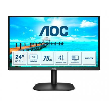 "Monitor Aoc 23.8"" 24b2xhm2 Va Fhd 75hz 4ms 250 Cd/m2 3000:1 D-sub Hdmi - Imagen 1"