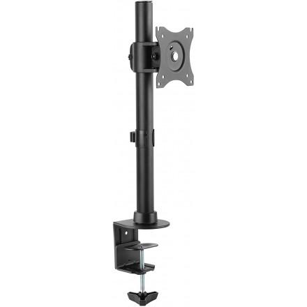 """Soporte Monitor Mesa Brazo articulado Giratorio Inclinable Pantalla PC 13-27"""" (33-69cm) Stand monitores VESA 75x75 100x100 Negro"""