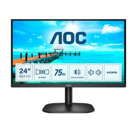 MONITOR LED 23.8  AOC 24B2XDAM NEGRO VGA/HDMI/DVI/1920X1080 - Imagen 1