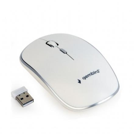 Gembird Wireless Raton Optico 1600 Dpi, Nano Usb, Blanco Musw-4b-01-w - Imagen 1