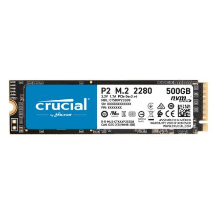"""Ssd Crucial M.2 P2 500gb 3d Nand Nvme"""" Pcie Ssd - Imagen 1"""