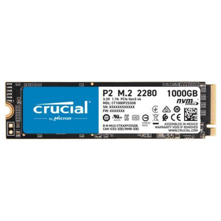 Crucial P2 M.2 1000 Gb Pci Express 3.0 Nvme - Imagen 1