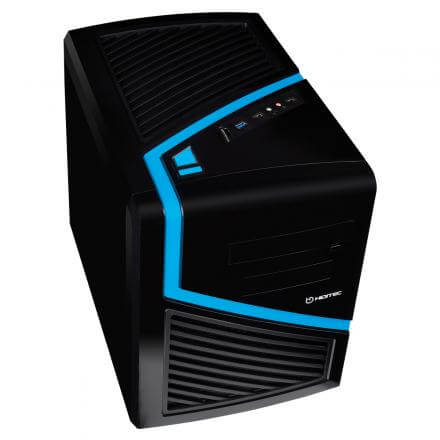 HIDITEC CAJA PC CUBE ATX DARK KUBE USB 3.0  MICRO ATX / ITX  SIN FUENTE NEGRA/AZUL - Imagen 1
