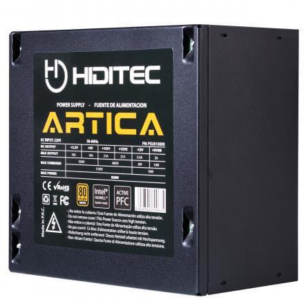 HIDITEC FUENTE ALIMENTACION ATX 500W ARTICA CERTIFICADO 80 PLUS BRONZE, PFC ACTIVO, VENT. 12X12 - Imagen 1