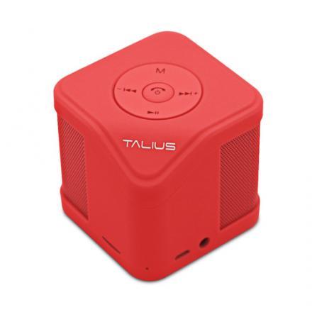 Talius Altavoz Cube 3w Fm/sd  Bluetooth Red - Imagen 1