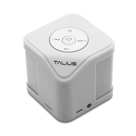 Talius Altavoz Cube 3w  Fm/sd Bluetooth White - Imagen 1