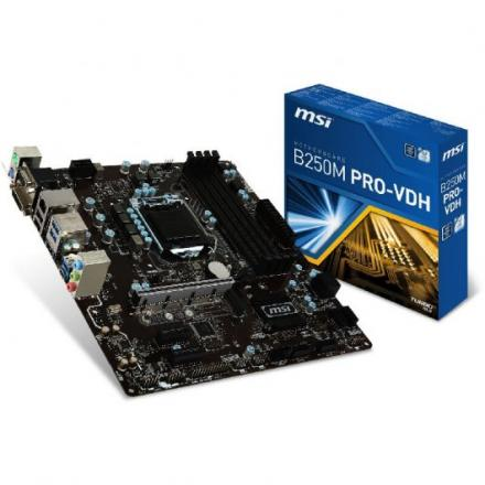 PB MSI 1151 B250M PRO-VDH MATX/4DDR4,2133,B250/OPTANE/HDMI/VGA/DVI-D - Imagen 1