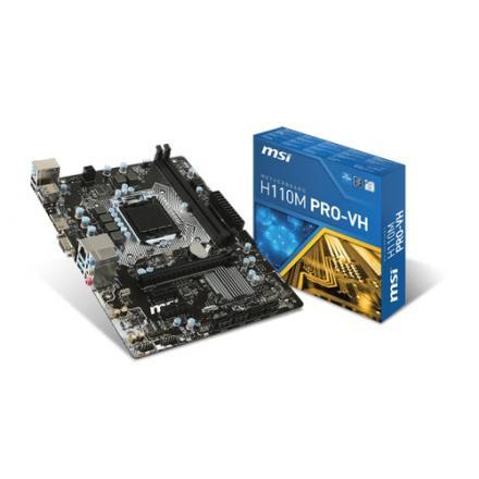 PB MSI 1151 H110M PRO-VH MARX,DDR4 2133,USB3,HDMI,VGA, - Imagen 1