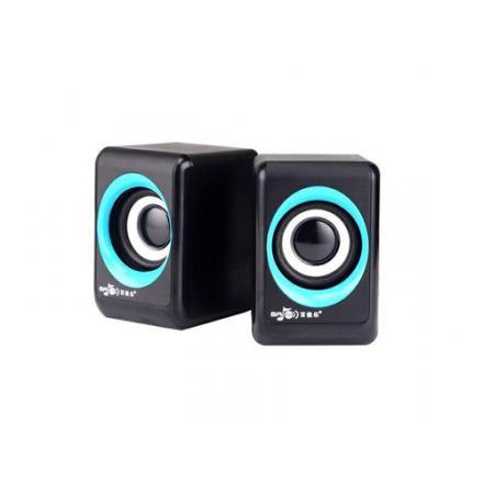 Altavoz Usb Multimedia Speaker 2.0 M03 Negro/azul - Imagen 1