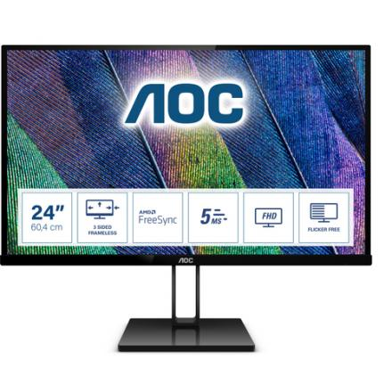 Monitor Aoc 23.8\1 24v2q /1920x1080/hdmi, Dp/5ms/75hz/ Flickerfree - Imagen 1