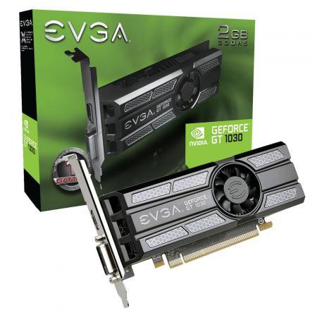 VGA EVGA  GT1030 SC 2GB DDR5 HDMI,DVI, BAJO PERFIL - Imagen 1