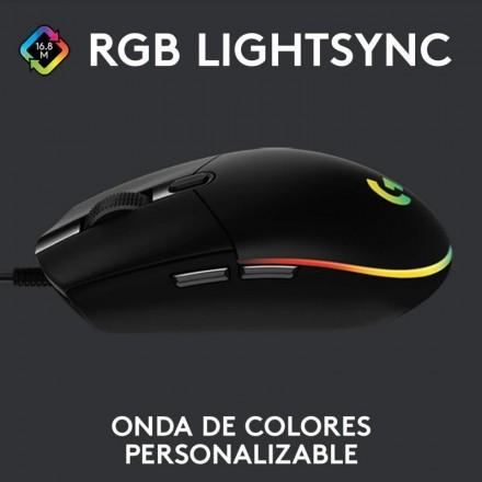 (oferta) Logitech G203 Lightsync 2nd Gen Ratón Gaming 8000DPI RGB Negro