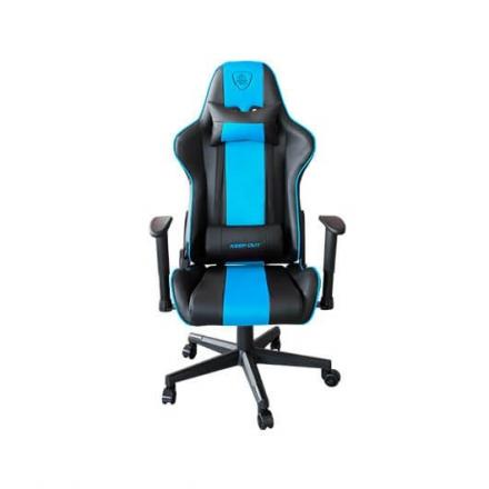 SILLA GAMING KEEP OUT RACING PRO BLUE TURQUOISE - Imagen 1