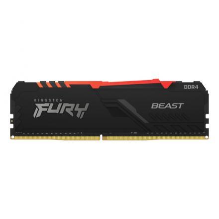 MODULO MEMORIA RAM DDR4 8GB 3000MHz KINGSTON FURY BEAST RGB - Imagen 1