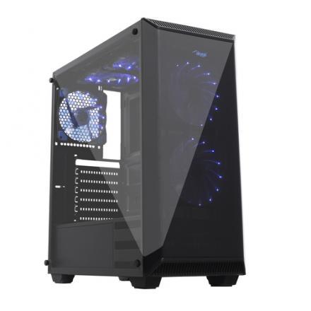 Akyga Caja Pc Gaming Midi Atx Aky015bk Usb 3.0, Plexi Ventana, Sin Fuente - Imagen 1