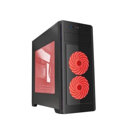 Gembird Caja Pc Atx Fornax 1000r - Red Led Fans, Usb 3.0 - Imagen 1