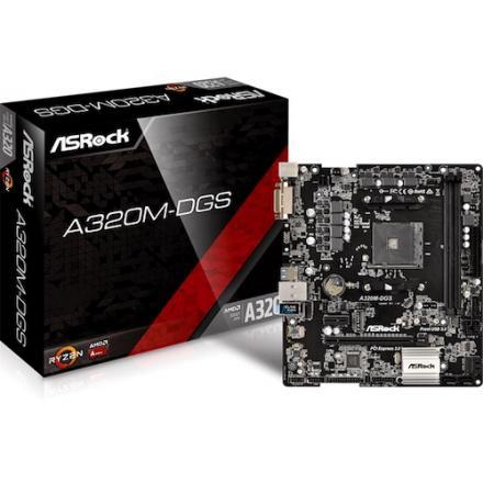 PB AMD SAM4 ASROCK A320M-DGS 2DDR4 PCIE 4SATA3 2PCI DVI mATX - Imagen 1