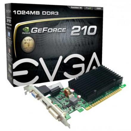 VGA EVGA GT210 1GB DDR3 HDMI,DVI,VGA - Imagen 1